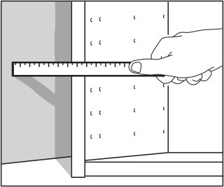 If The Wall Is Even, Measure Between The Wall And The Cabinet And Mark This  Distance At The Top And Bottom Of The Filler Piece.