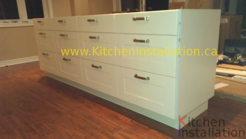 Ikea Wandregal Mit Schublade ~ IKEA kitchen with island installed in Thornhill