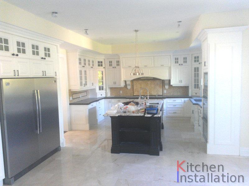 Kitchen installation offices installation walk in for Kitchen cabinets installation